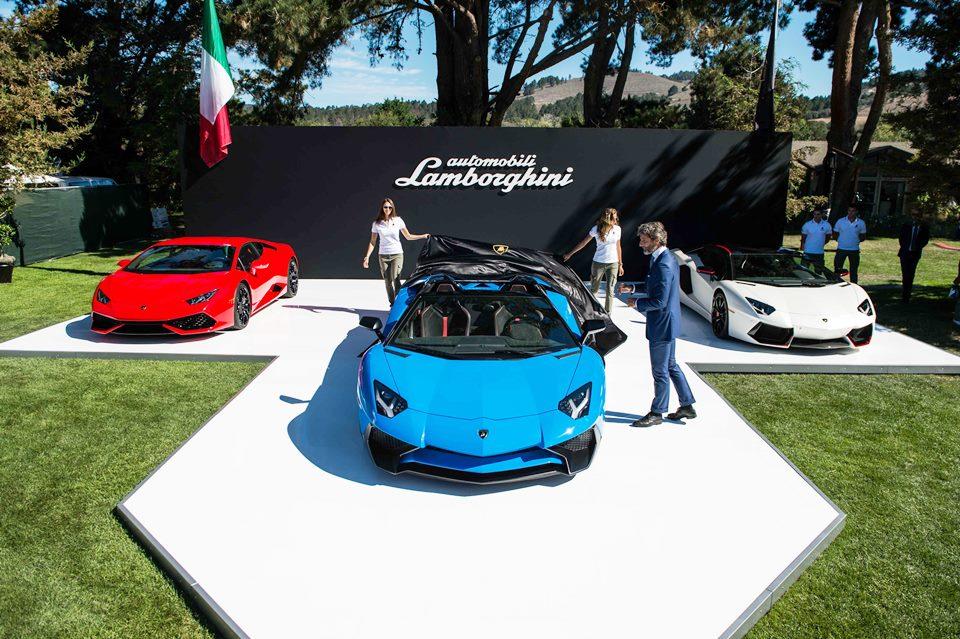 The unveiling of the Lamborghini Aventador SV Roadster
