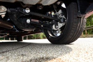 Aluminium parts reduce unsprung weight, and rear camber is adjustable