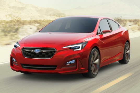 LA 2015 - Subaru Impreza Sedan Concept makes global debut