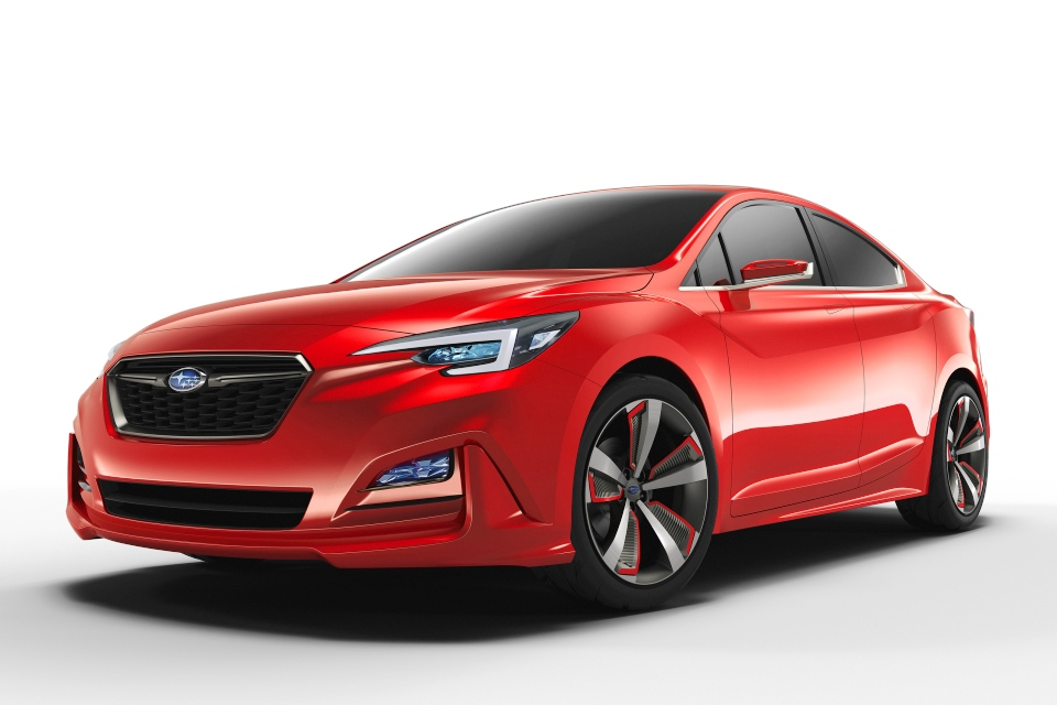 La 2015 Subaru Impreza Sedan Concept Makes Global Debut