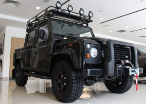 Land Rover Defender Limited Edition finished in Santorini black is transformed into a mean go-anywhere 4X4