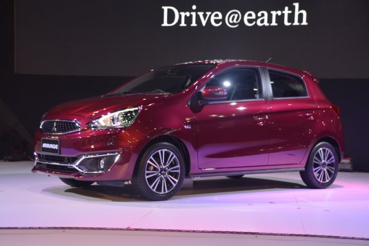 Thai Expo 2015 - Mitsubishi launches Mirage facelift