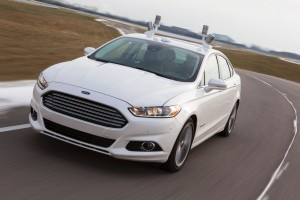 Ford Fusion Hybrid Autonomous Vehicle with Velodyne PUCK LiDAR