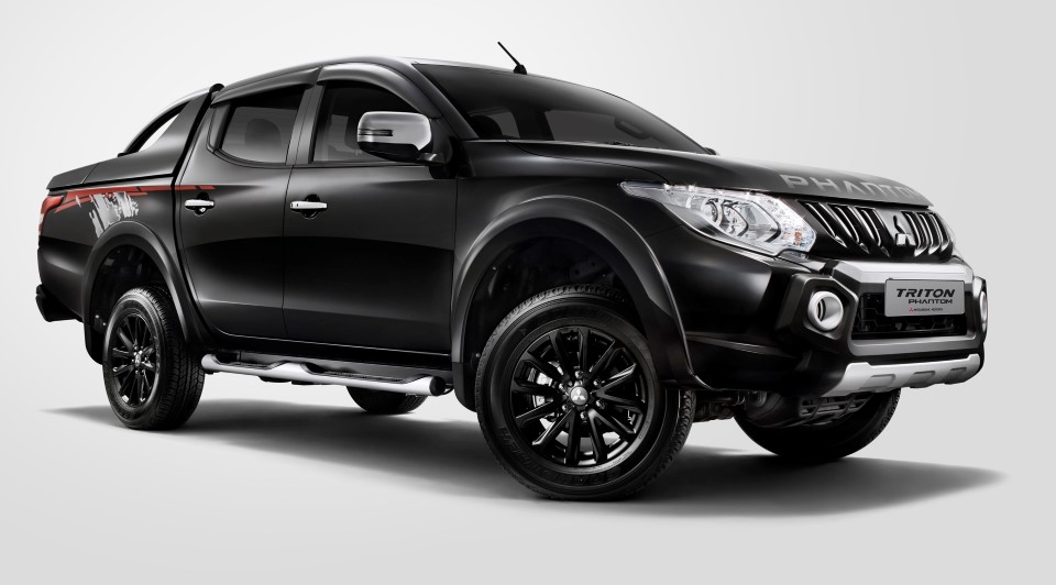 Created in all-black with accessories to match its tough look