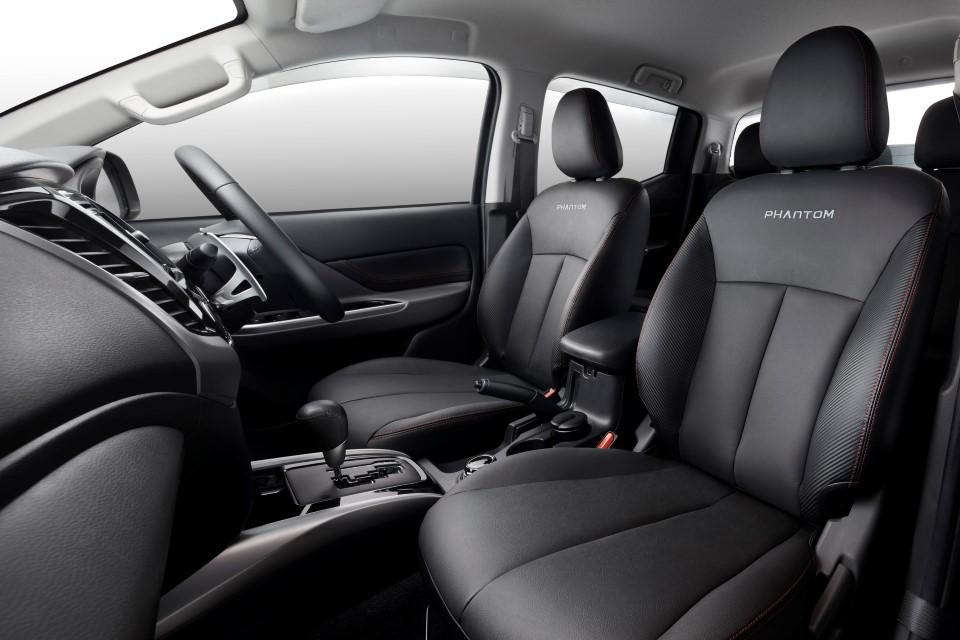 Exclusive Phantom black leather seats.