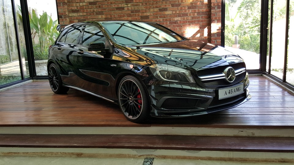 The A45 AMG is a pocket rocket that is fast gaining popularity amongst the younger buyers