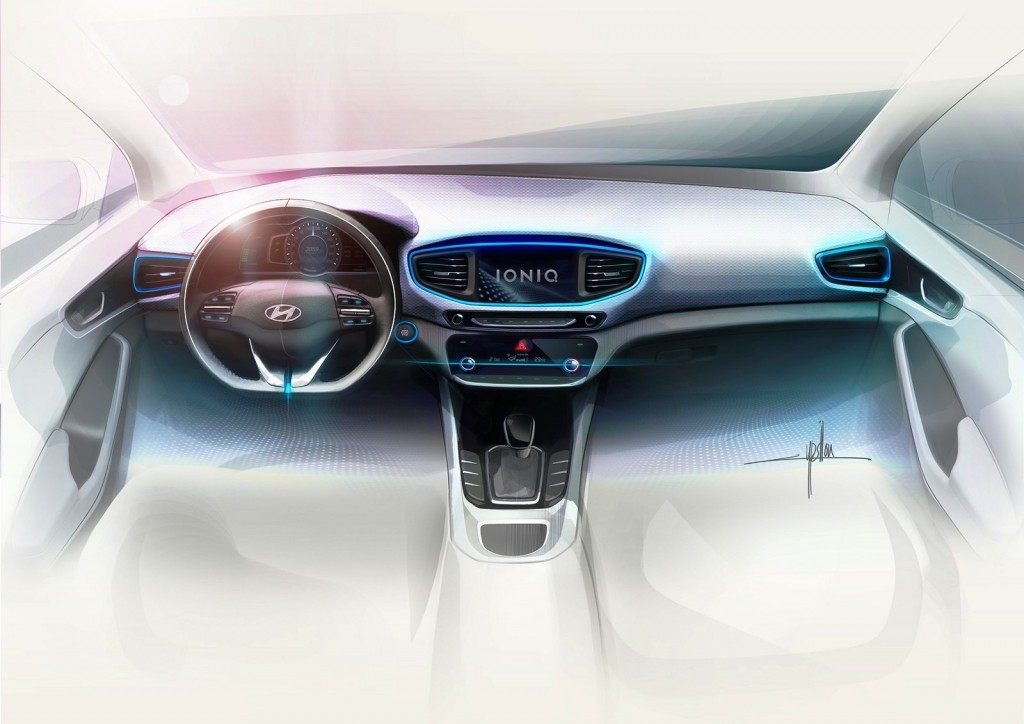 Hyundai IONIQ A Leap Forward for Hybrid Vehicles_Interior Sketch