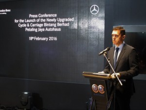 Mercedes-Benz President & CEO Dr Claus Weidner