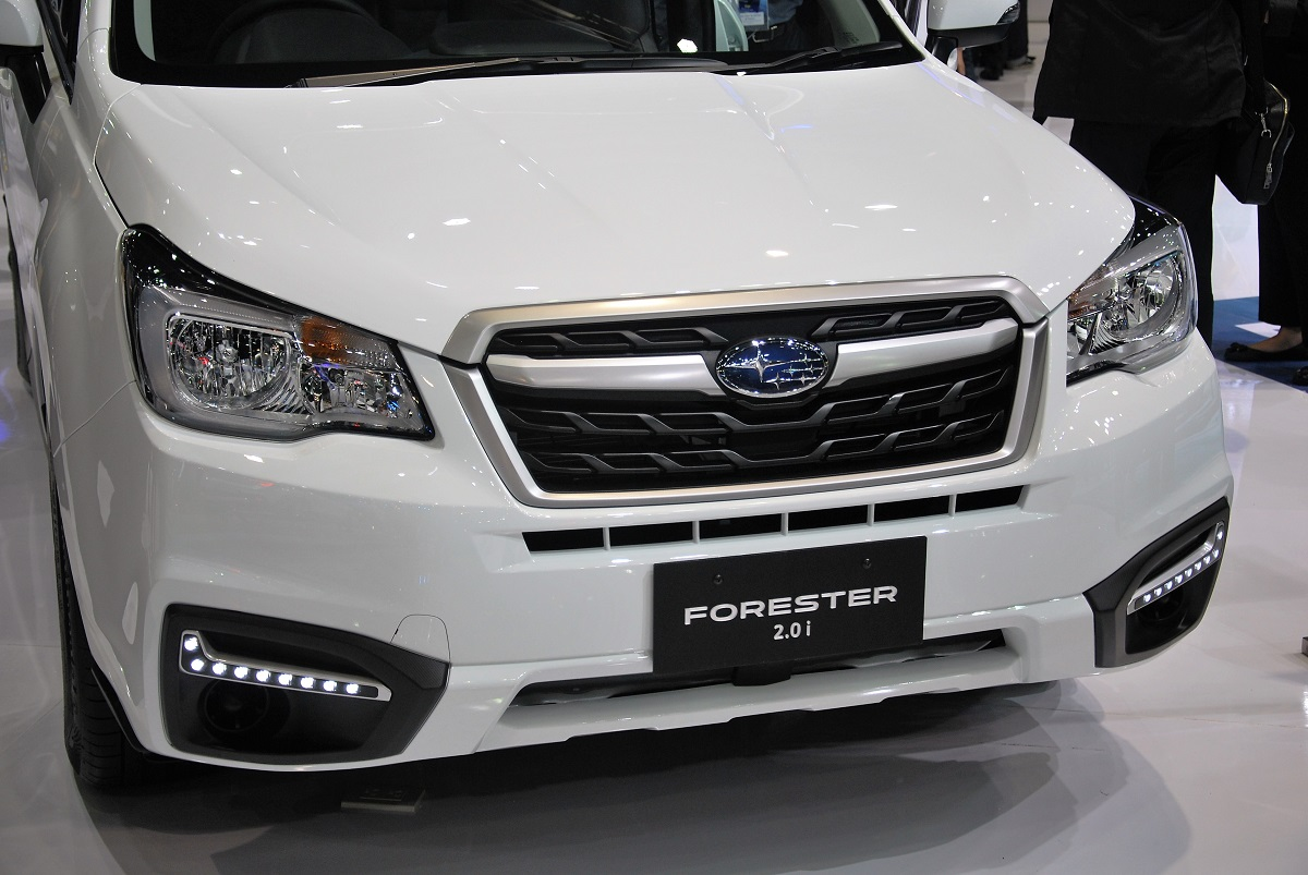 subaru forester 2016 white. 2016 subaru forester 20i bangkok international motor show white