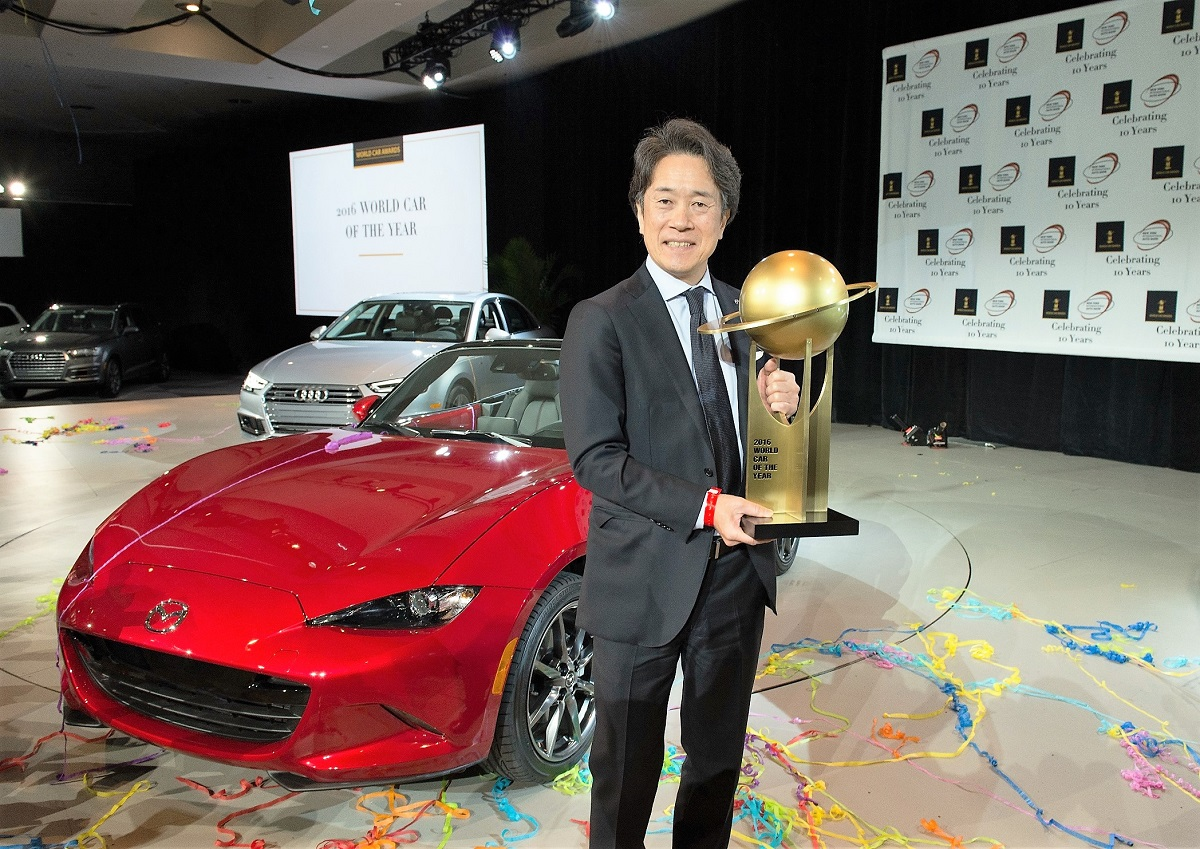 mazda mx 5 wins 2016 world car of the year award. Black Bedroom Furniture Sets. Home Design Ideas