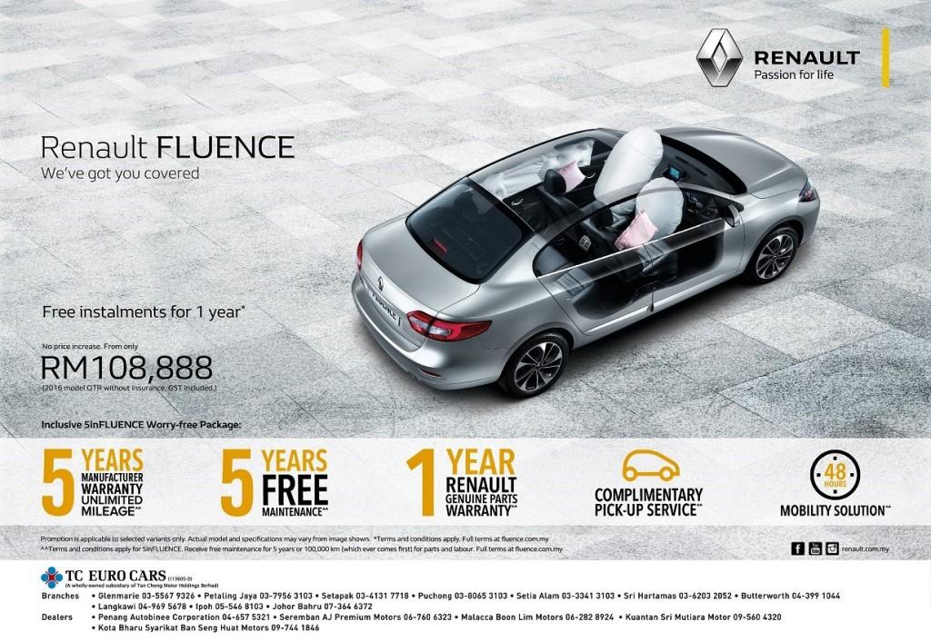 Renault Fluence 'We've Got You Covered' Sales Campaign