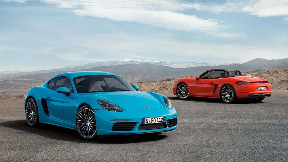 new porsche cayman 718 with down sized engines; more power, less718 cayman s and 718 boxster s