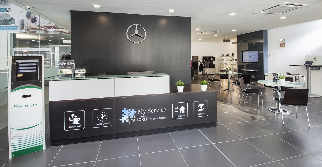 First mercedes benz city service opens in kuala lumpur for Mercedes benz service department