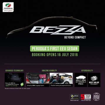 Updated : Perodua Bezza Is Open For Booking!