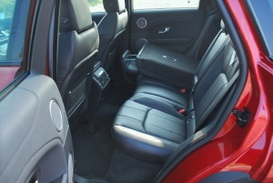 Range Rover Evoque Rear Seat Folded