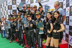 The 2016 Lamborghini Blancpain Super Trofeo Asia Winners at Sepang