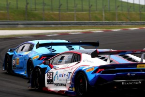 Lamborghini Blancpain Super Trofeo Asia Sepang rear shot corner - Copy