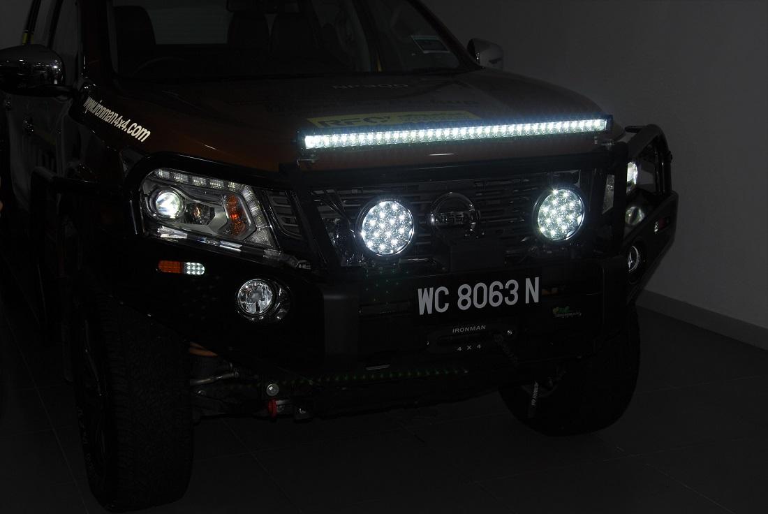 Nissan navara np300 ironman 4x4 led spotlight light bar nissan navara np300 ironman 44 led spotlight light bar aloadofball Choice Image