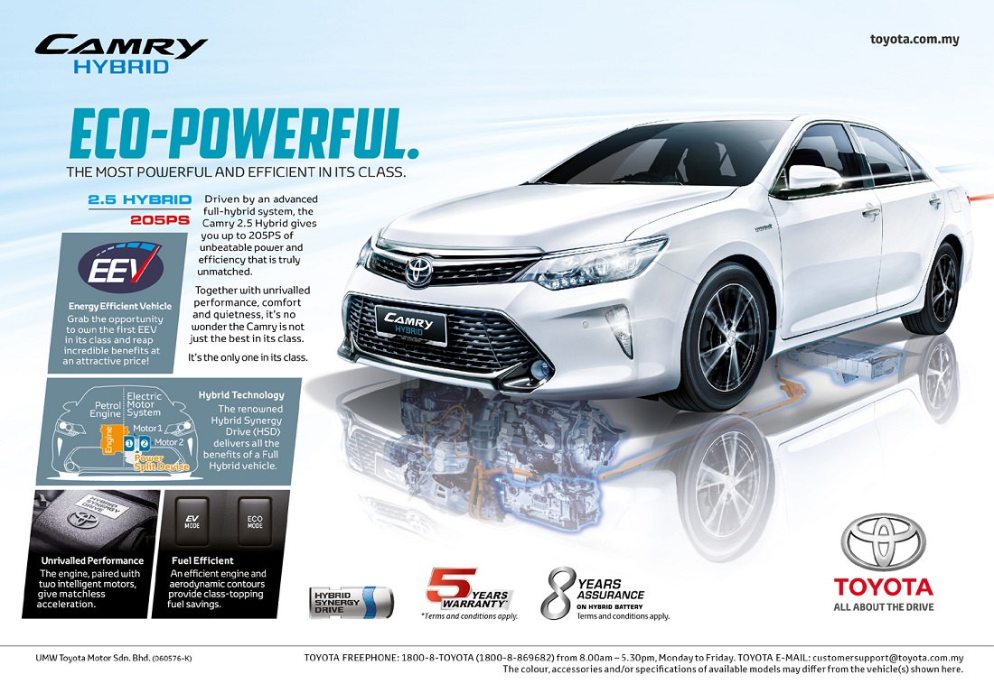 toyota camry hybrid gets rm8k rebate. Black Bedroom Furniture Sets. Home Design Ideas