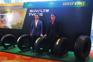 Westlake Tyre Launch 2016 Malaysia, Ge Guorong, Vice President ZhongCe Rubber Group & Tan Heong Thong Managing Director Westlake Marketing Malaysia