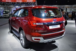 Ford Everest Rear View 33rd Thailand International Motor Expo 2016