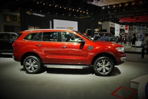 Ford Everest Red 33rd Thailand International Motor Expo 2016