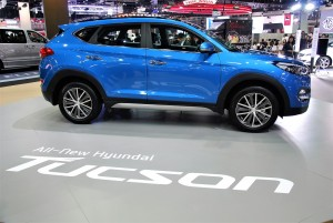 Hyundai Tucson Side View 33rd Thailand International Motor Expo 2016