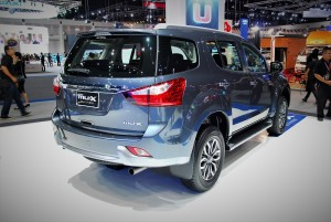 Isuzu mu-X Blue Power Rear View 33rd Thailand International Motor Expo 2016