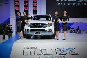 The Isuzu mu-X Blue Power in Thailand