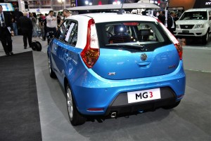 MG 3 Blue Rear View 33rd Thailand International Motor Expo 2016