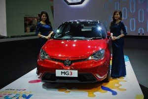 MG 3 Red Front View 33rd Thailand International Motor Expo 2016