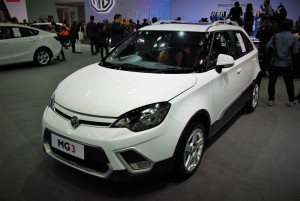MG 3 White 33rd Thailand International Motor Expo 2016