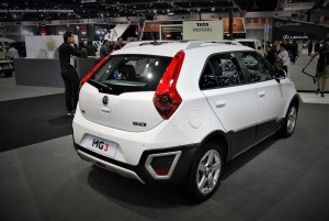MG 3 White Rear View 33rd Thailand International Motor Expo 2016
