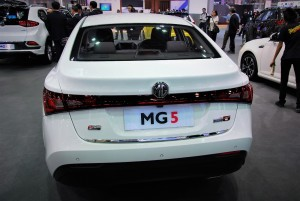 MG 5 Rear View 33rd Thailand International Motor Expo 2016