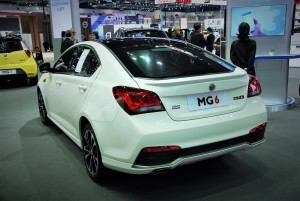 MG 6 Turbo Rear View 33rd Thailand International Motor Expo 2016