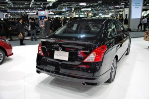 Nissan Almera Rear View 33rd Thailand International Motor Expo 2016