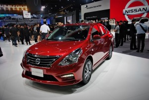 Nissan Almera Red 33rd Thailand International Motor Expo 2016