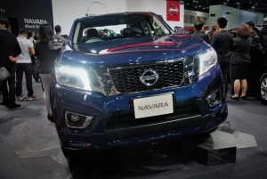 Nissan Navara Blue Front 33rd Thailand International Motor Expo 2016