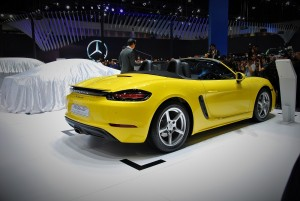 Porsche 718 Boxster Rear 33rd Thailand International Motor Expo 2016
