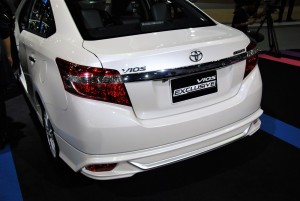 Toyota Vios Exclusive Rear View 33rd Thailand International Motor Expo 2016