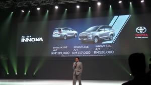 Datuk Ismet Suki, President UMW Toyota announces the prices 20161205_125628