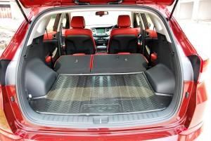 Hyundai Tucson Rear Seats Folded, Cargo Space, Malaysia 2016