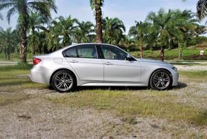 BMW 330i M Sport Side View Malaysia 2016