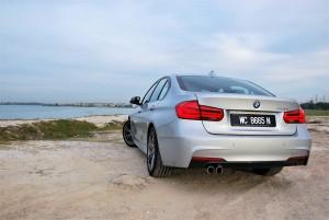 BMW 330i M Sport Rear View Malaysia 2016