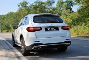 Mercedes-Benz GLC 250 4MATIC AMG Line Rear View Malaysia 2016