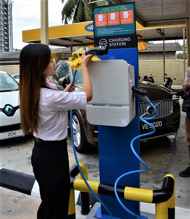 "BHPetrol Provides ""Electric Vehicle Charging Kiosk"" at Sg ..."