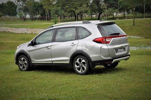 Honda BR-V V Grade Rear Three Quarter View, Malaysia Test Drive