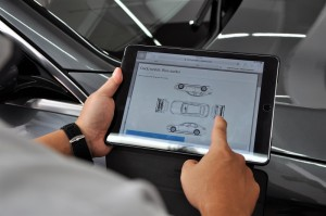 Mercedes-Benz Malaysia Cycle & Carriage Bintang Cheras Autohaus Car Servicing Area, Tablet