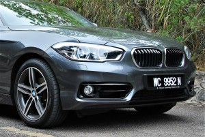 BMW 118i Sport Front Section Malaysia Test Drive