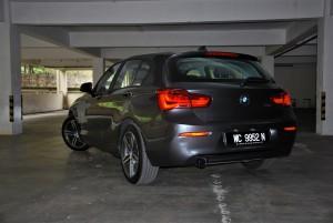BMW 118i Sport F20 Rear Three Quarter View, Malaysia